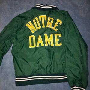 Throwback Notre Dame Bomber Jacket